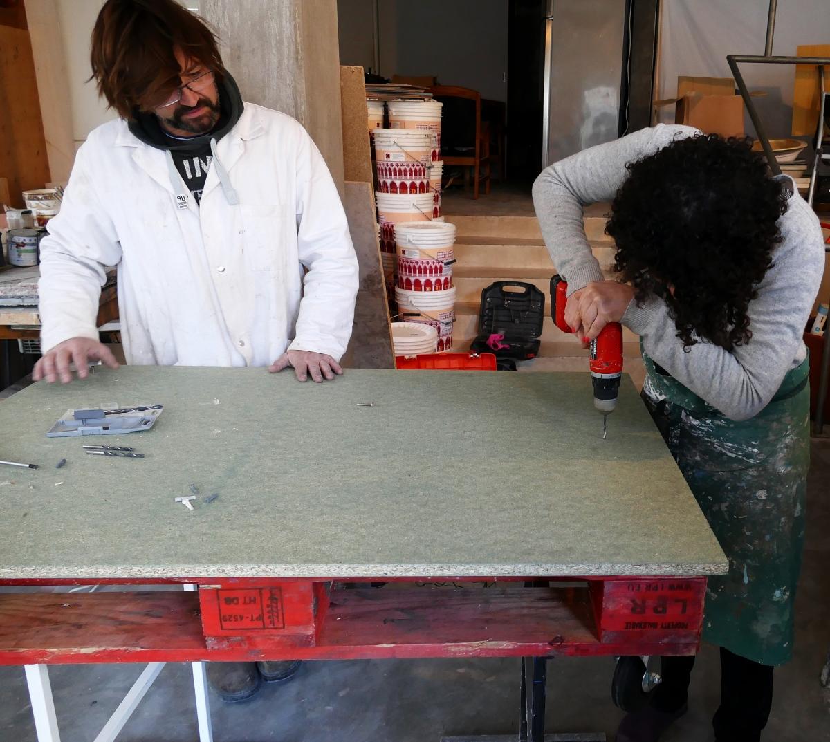 Table En Béton Ciré Et Bois réaliser une table basse en béton ciré | atelier follaco