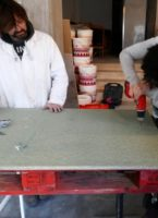 Create a waxed concrete coffee table