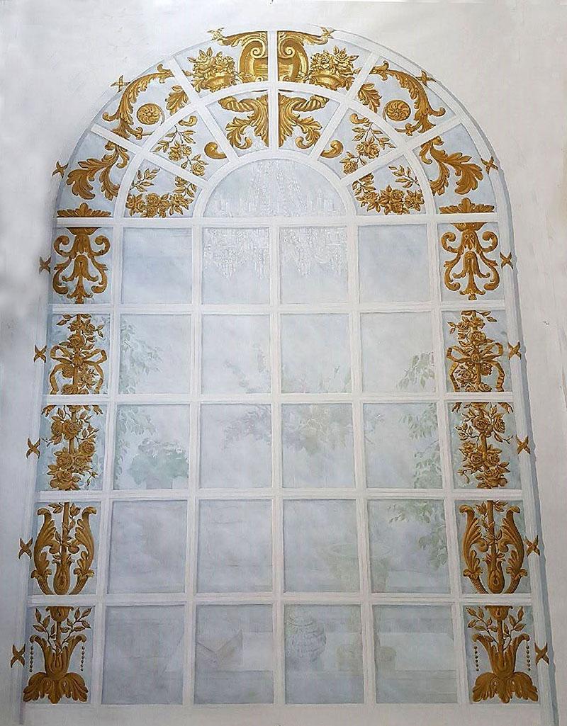 Papier Peint Trompe L Oeil Plafond trompe l'oeil sur mesure - décors peints | atelier follaco
