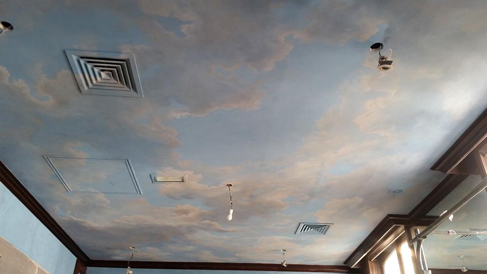 Décoration plafond peint, ciel