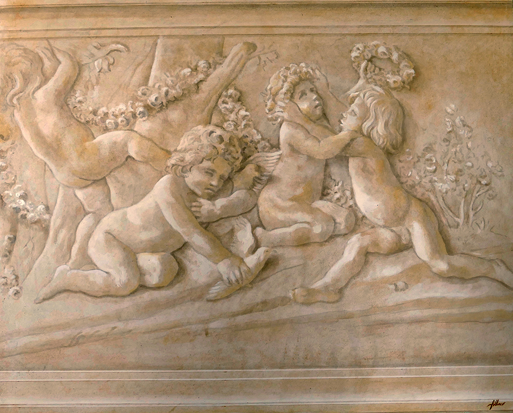 Fresque imitation bas-relief