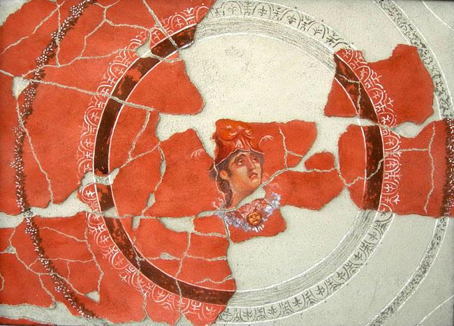 Fresque d'après Pompéi