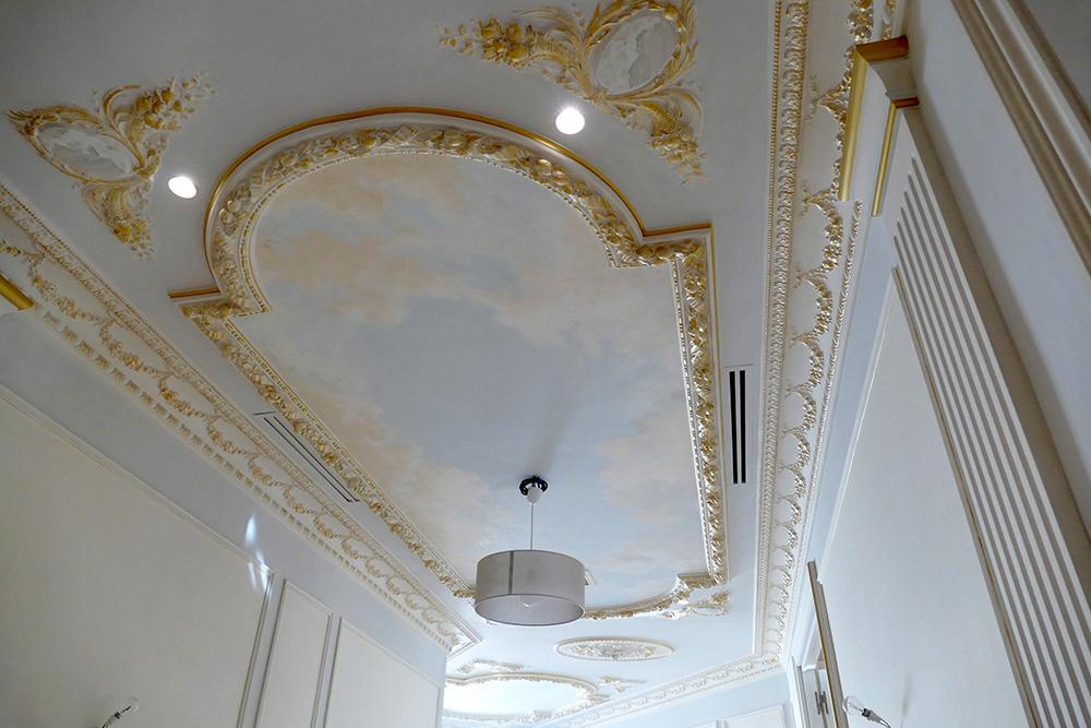 Plafond peint, ciel, décoration