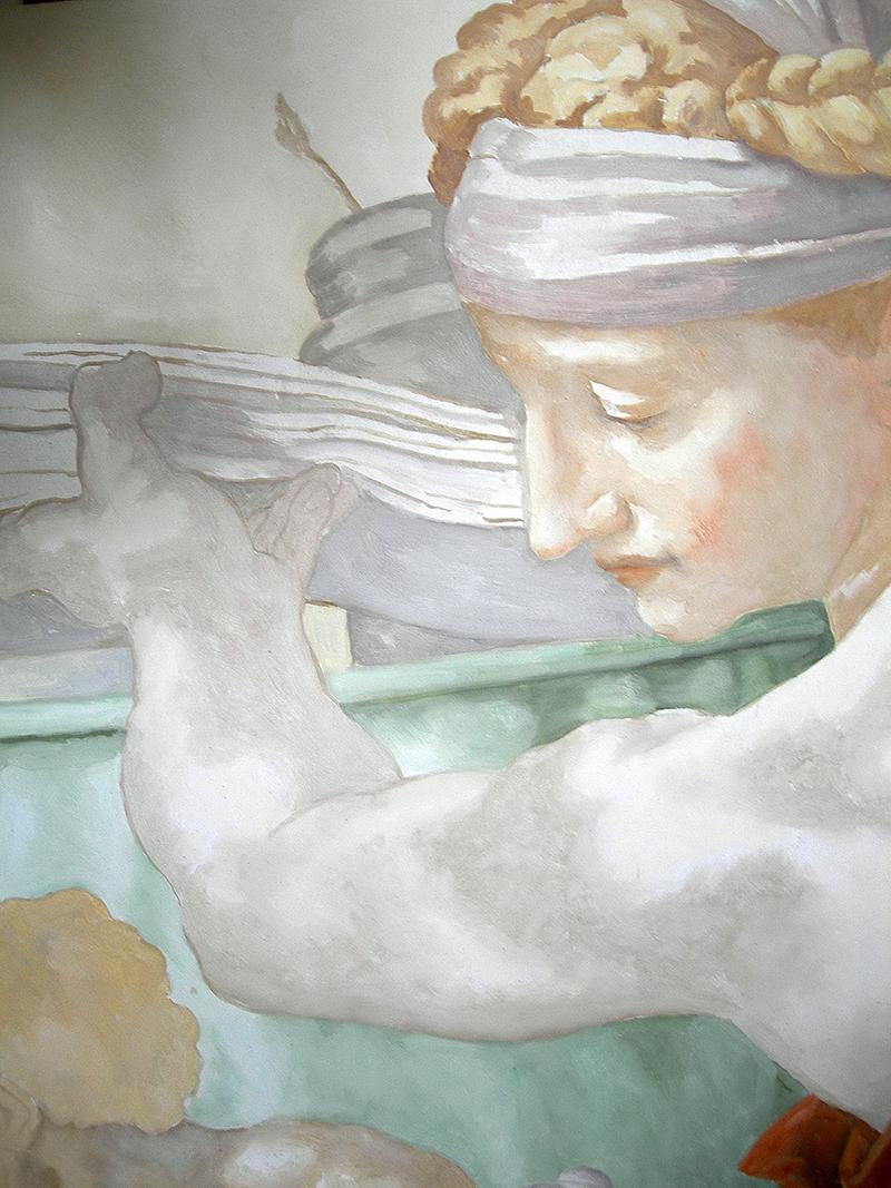 Fresque, peinture a fresco d'après Michelangelo