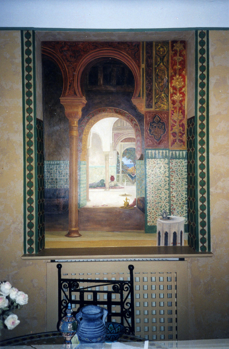 Peinture orientaliste, mur peint