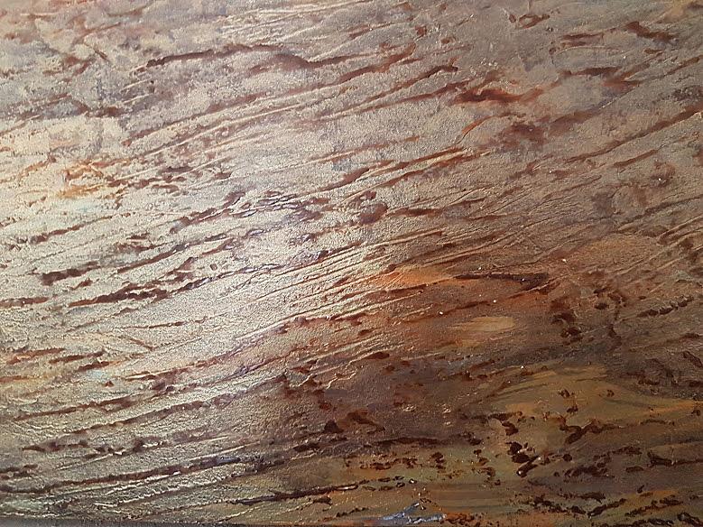 Patine effet écorce bois