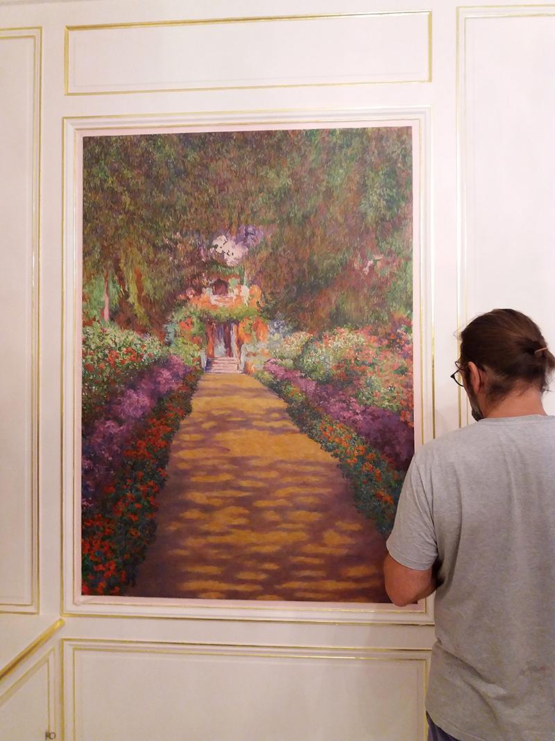 Toile peinte d'après Monet, panoramique