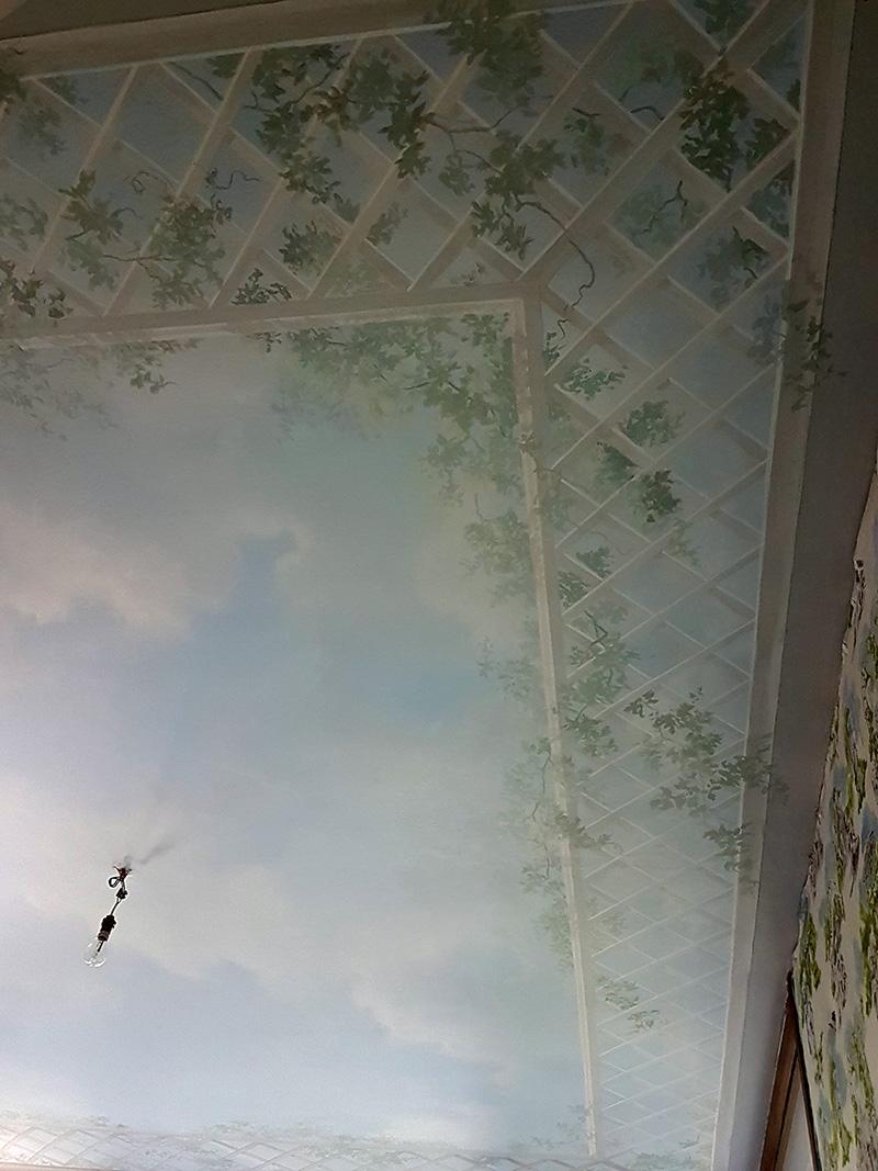 plafonds peints sur mesure d cors peints atelier follaco. Black Bedroom Furniture Sets. Home Design Ideas