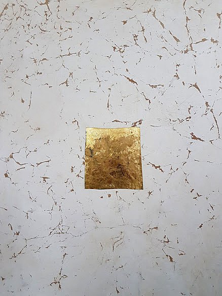 Patine, blanc et feuille d'or
