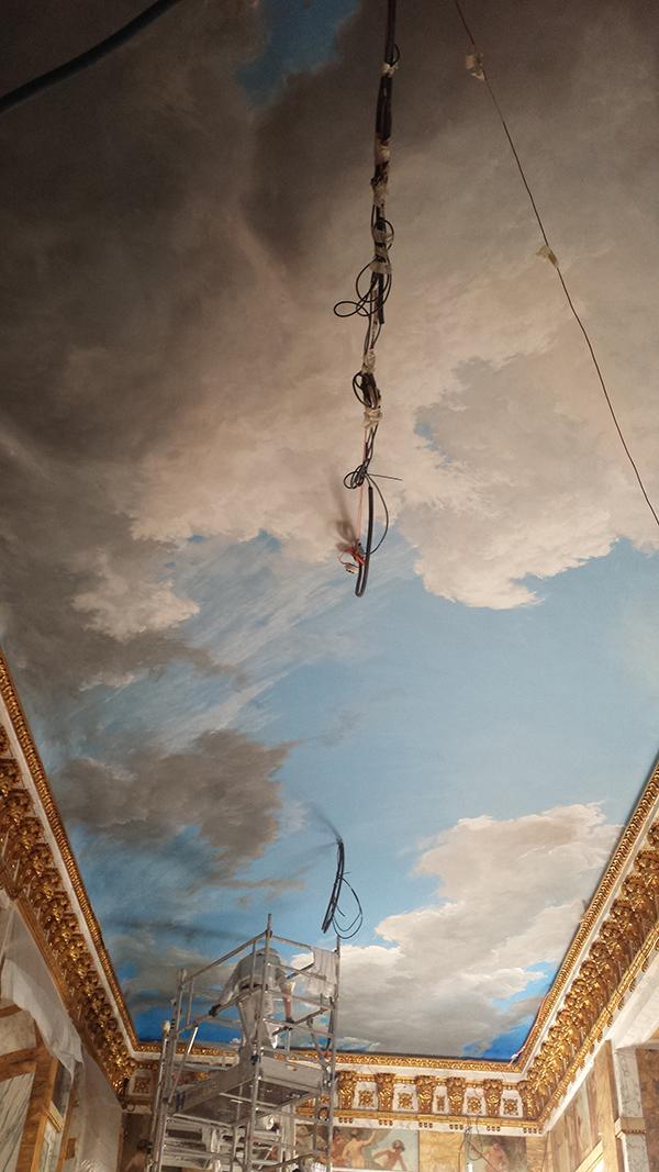 Plafond peint au Crillon