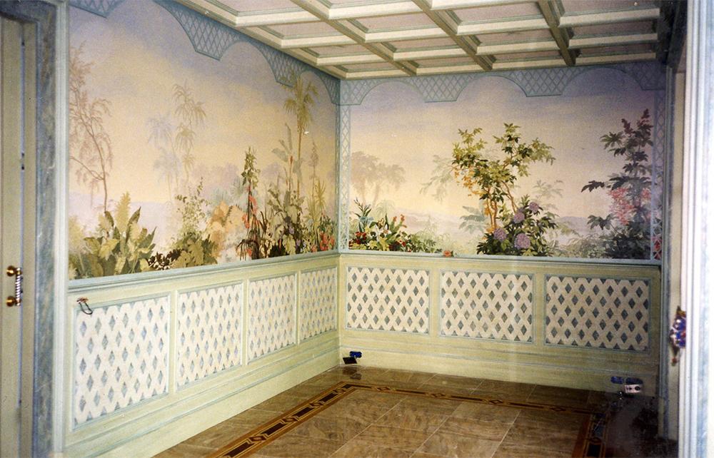 Trompe l'oeil papier peint Zuber, décoration chambre