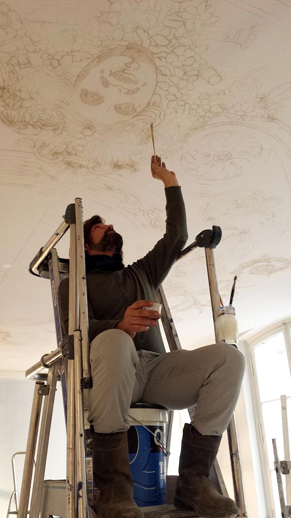 Report du dessin au plafond