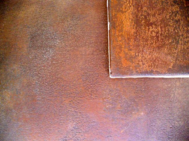 Matière en métallisation à froid (fer rouillé)
