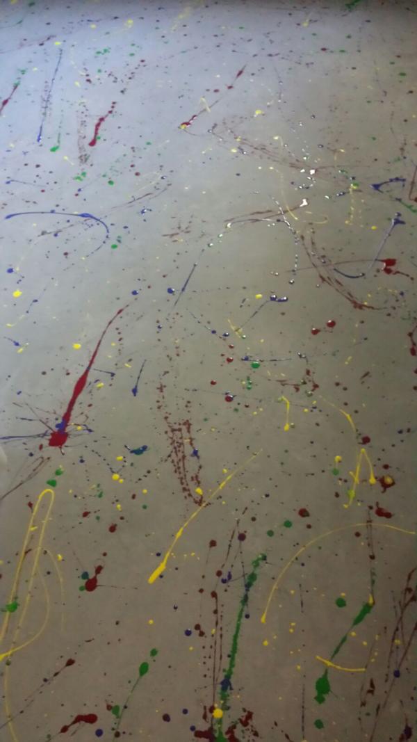 Béton façon Pollock