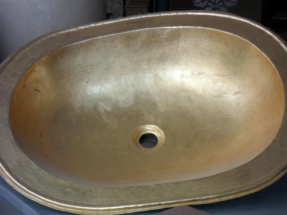 Vasque à la feuille de cuivre