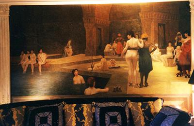 Toile peinte orientaliste, décoration murale, d'après Jean-Léon Gérôme