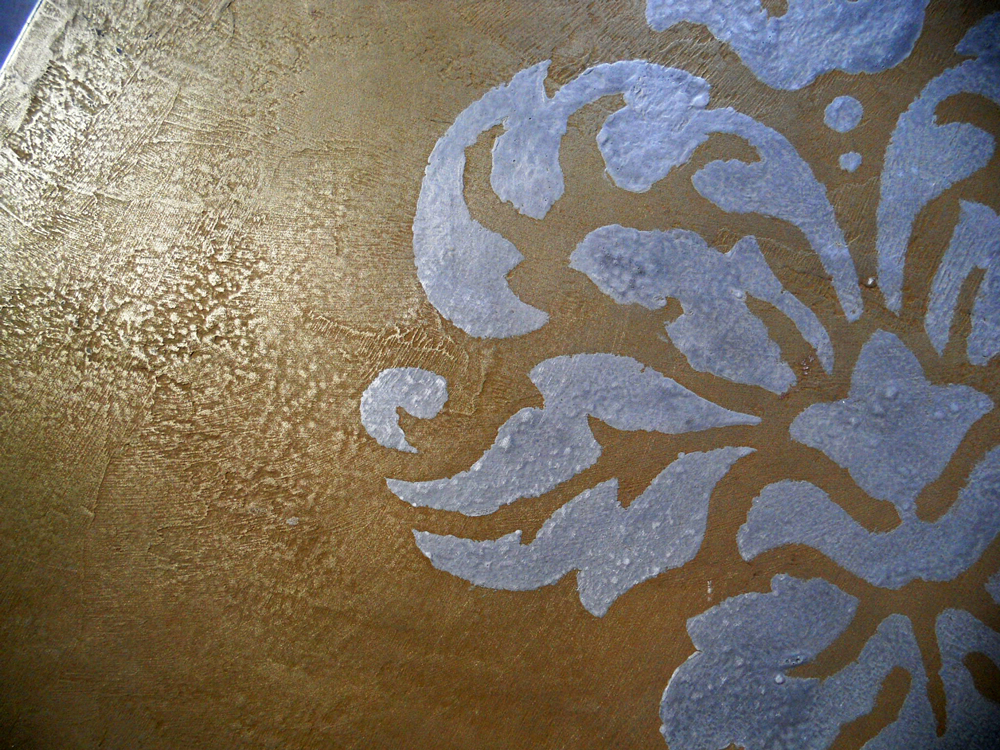 Impression sur métallisation à froid, laiton