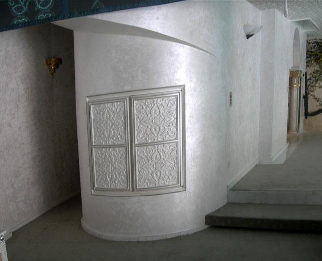 Murs en marmorino nacré