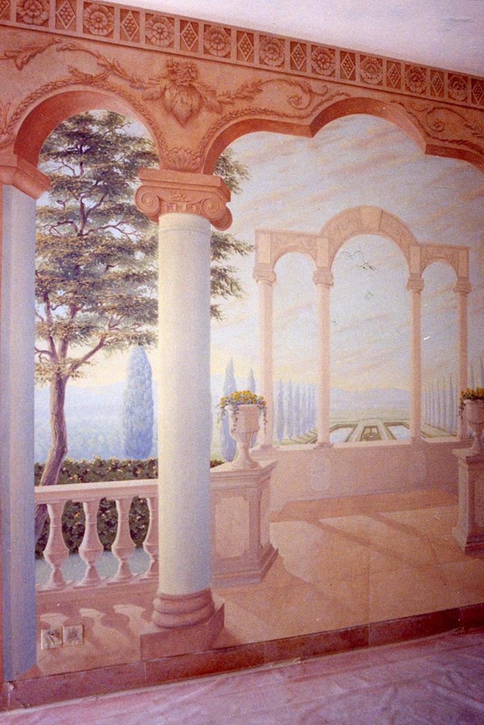 Toile peinte Paysage et architecture