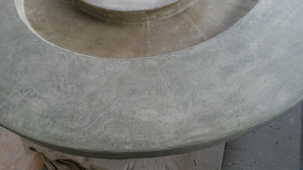 Table en béton ciré