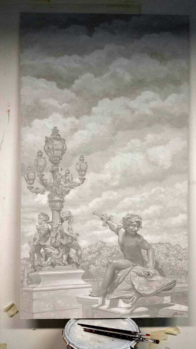 Grisaille, Pont Alexandre III