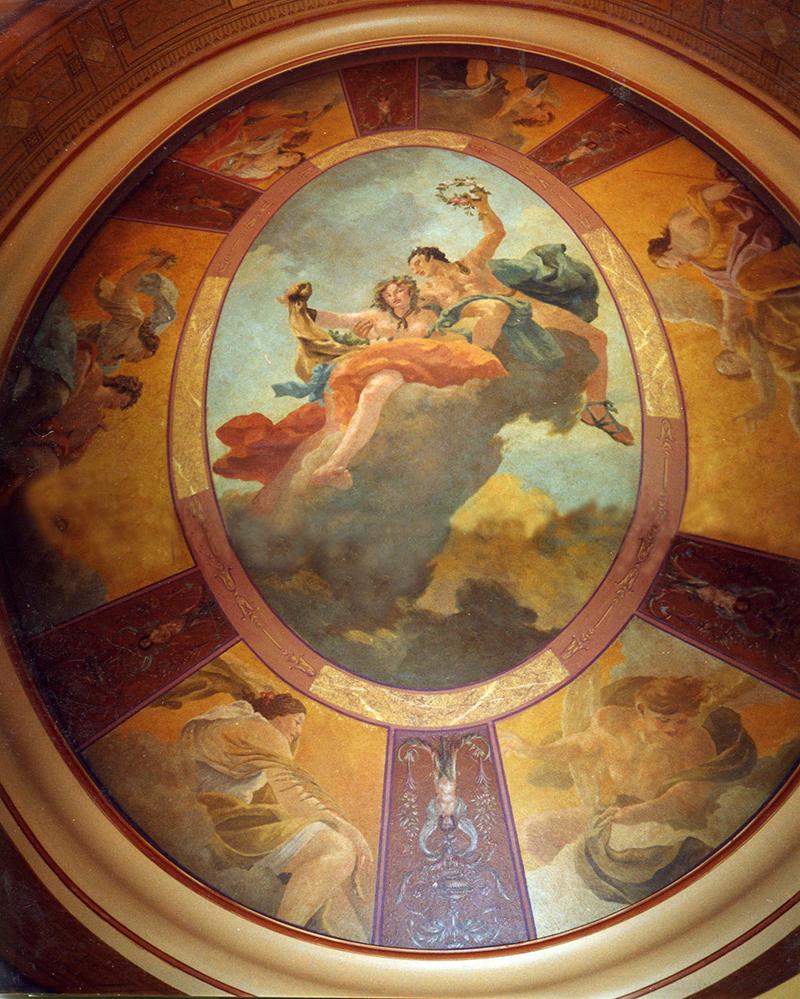 Plafond peint d'après Tiepolo et Simon Vouet