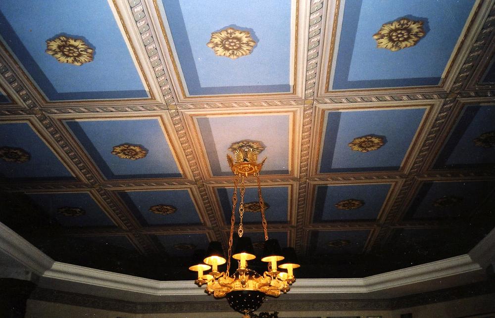 Plafond peint en trompe l'oeil