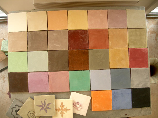 Carreaux unis sur mesure, 10x10 cm, coloris réalisés sur mesure