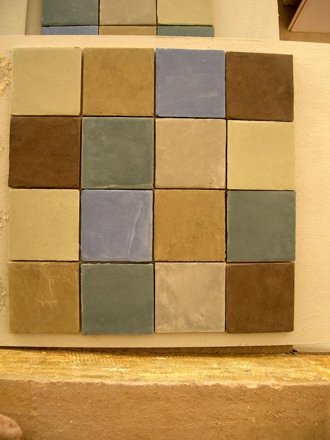 Carreaux sur mesure en marmorino, format 10x10 cm