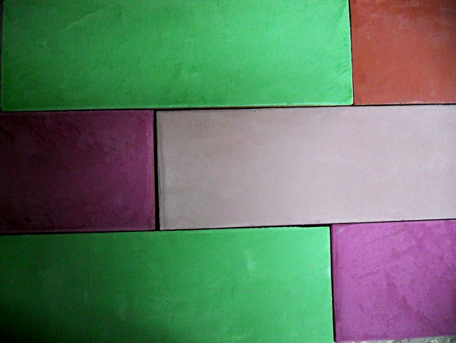 Carrelage uni effet ciment en marmorino,  format 10x30 cm