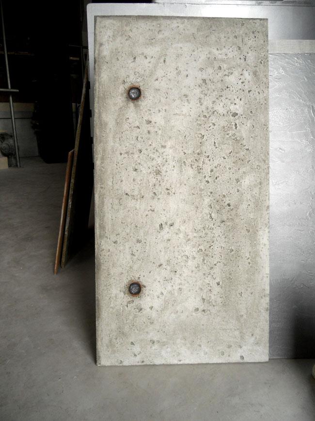 Dalle béton, grand format prêt-à-poser effet béton brut de décoffrage, plusieurs formats disponibles, maxi 120x170 cm