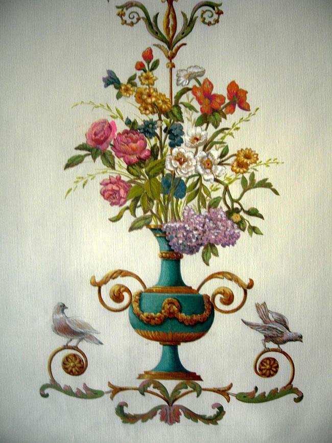 Ornementation peinture sur toile
